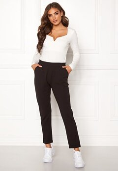 BUBBLEROOM Bonita soft suit pant Black Bubbleroom.se