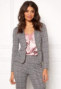 BUBBLEROOM Brienne blazer Grey / Checked Bubbleroom.se