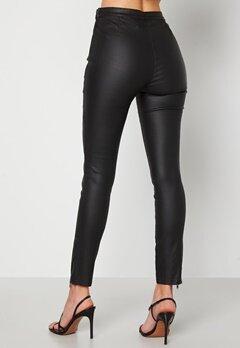 BUBBLEROOM Brienne coated zip leggings Black Bubbleroom.se