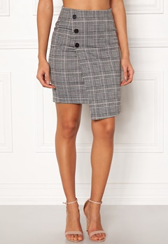 BUBBLEROOM Brienne skirt Grey / Pink / Checked Bubbleroom.se