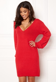 BUBBLEROOM Brooke knitted dress Red Bubbleroom.se