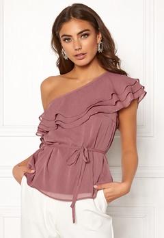 BUBBLEROOM Carolina Gynning Flounce blouse Old rose Bubbleroom.se