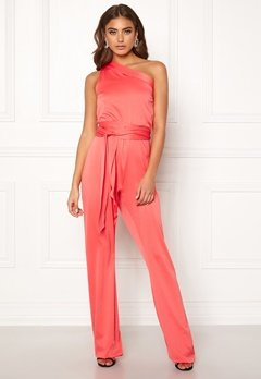 BUBBLEROOM Carolina Gynning One shoulder jumpsuit Coral Bubbleroom.se