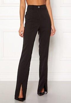 ce97cb4adab4 BUBBLEROOM Carolina Gynning Slitted trouser Black Bubbleroom.se