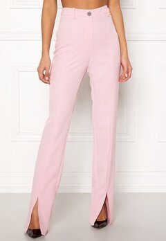 BUBBLEROOM Carolina Gynning Slitted trouser Light pink Bubbleroom.se