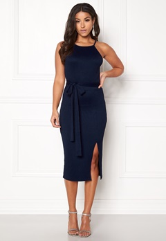 BUBBLEROOM Celie rib dress Dark blue Bubbleroom.se