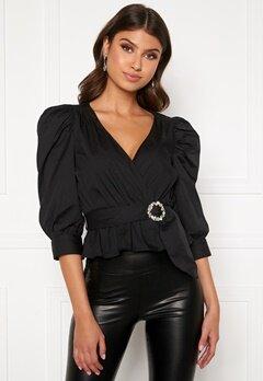BUBBLEROOM Charlie puff sleeve blouse Black Bubbleroom.se