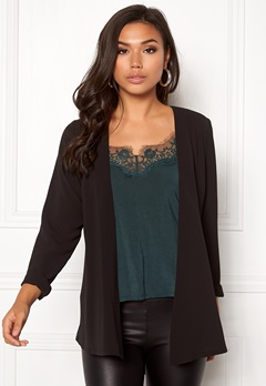 BUBBLEROOM Clair soft blazer Black Bubbleroom.se
