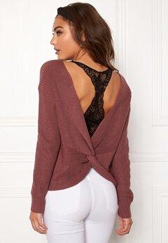 BUBBLEROOM Damaris knitted sweater Old rose Bubbleroom.se