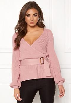 BUBBLEROOM Delilah knitted sweater Dusty pink Bubbleroom.se