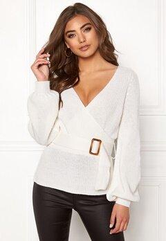 BUBBLEROOM Delilah knitted sweater White Bubbleroom.se