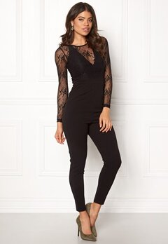 BUBBLEROOM Denise lace jumpsuit Black Bubbleroom.no
