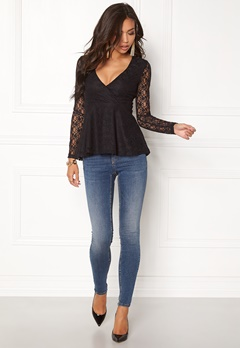 BUBBLEROOM Elina lace top Black Bubbleroom.no