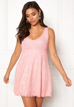 BUBBLEROOM Elly lace dress Light pink Bubbleroom.se