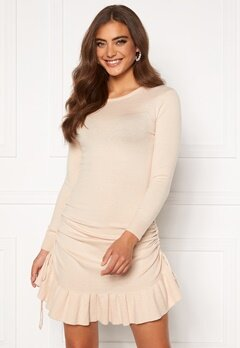 BUBBLEROOM Elna knitted dress Cream Bubbleroom.se
