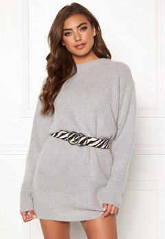 BUBBLEROOM Elsie knitted sweater Grey Bubbleroom.se