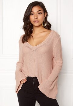 BUBBLEROOM Esther knitted sweater Dusty pink Bubbleroom.se