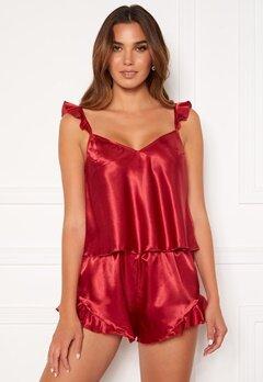 BUBBLEROOM Eve flouncy pyjama set Red Bubbleroom.se