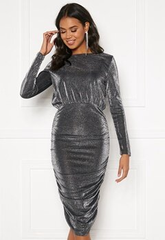 BUBBLEROOM Ezra sparkling drapy dress Black / Silver Bubbleroom.se