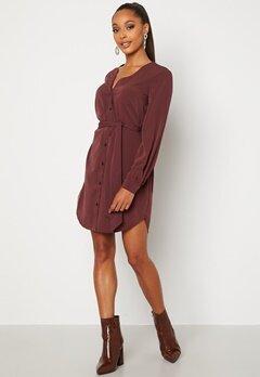 BUBBLEROOM Fenne shirt dress Wine-red bubbleroom.se