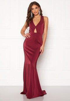 BUBBLEROOM Fidoli prom dress Wine-red Bubbleroom.se