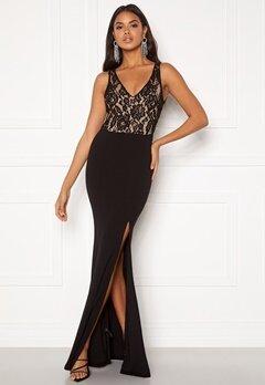 BUBBLEROOM Florence lace top prom dress Black Bubbleroom.se
