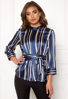 BUBBLEROOM Gabbie top Dark blue / Striped Bubbleroom.se
