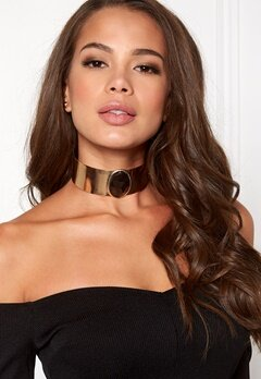 BUBBLEROOM Gold ring choker Halskjede Gullfarget Bubbleroom.no