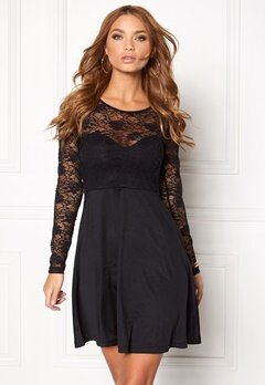 BUBBLEROOM Grace lace dress Black Bubbleroom.fi