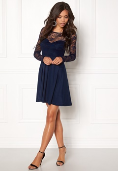 BUBBLEROOM Grace lace dress Dark blue Bubbleroom.no
