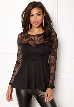 BUBBLEROOM Grace lace top Black Bubbleroom.no