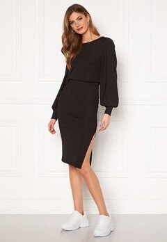 BUBBLEROOM Gry balloon sleeve dress Black Bubbleroom.se