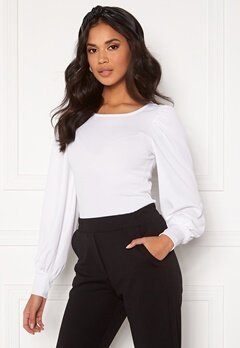BUBBLEROOM Gry balloon sleeve top White Bubbleroom.se