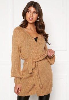 BUBBLEROOM Hana knitted cardigan Camel Bubbleroom.se