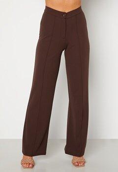 BUBBLEROOM Hilma soft suit trousers Dark brown Bubbleroom.se