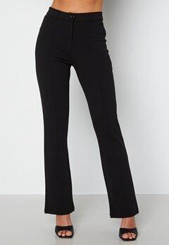 BUBBLEROOM Idarina soft flared suit trousers Black bubbleroom.se