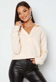BUBBLEROOM Iliza soft shirt Cream bubbleroom.se