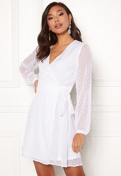 BUBBLEROOM Ilse wrap dress White Bubbleroom.se