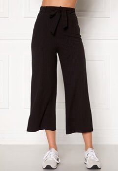 BUBBLEROOM Indira rib trousers Black Bubbleroom.se