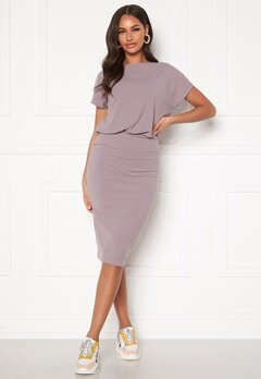 BUBBLEROOM Indira short sleeve dress Dusty lilac Bubbleroom.se