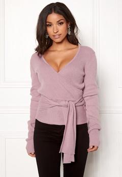 BUBBLEROOM Ines knitted sweater Dusty pink Bubbleroom.se