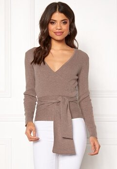 BUBBLEROOM Ines knitted sweater Nougat Bubbleroom.se