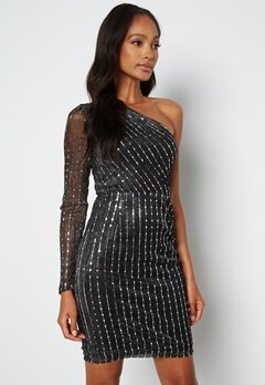 BUBBLEROOM Ivana Sparkle Dress Black / Silver bubbleroom.se