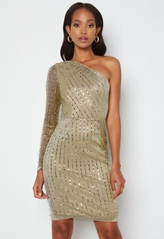 BUBBLEROOM Ivana Sparkle Dress Gold bubbleroom.se