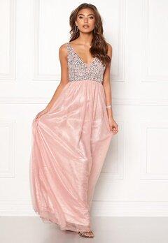 BUBBLEROOM Ivory embellished prom dress Light pink Bubbleroom.se