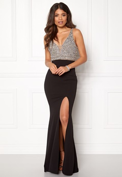 BUBBLEROOM Ivy embellished prom dress Black Bubbleroom.se