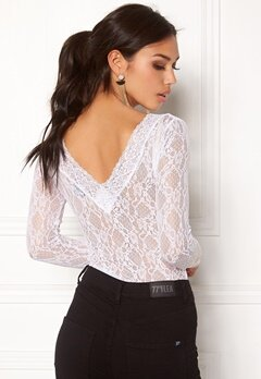 BUBBLEROOM Ivy lace top White Bubbleroom.se