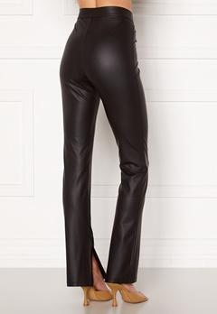 BUBBLEROOM Iza PU slit leggings Black Bubbleroom.se