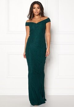 BUBBLEROOM Jennifer lace dress Dark green Bubbleroom.se
