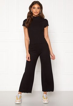 BUBBLEROOM Jessie rib trousers Black Bubbleroom.se
